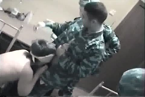 To these Russian Soldiers Brought A man-skank