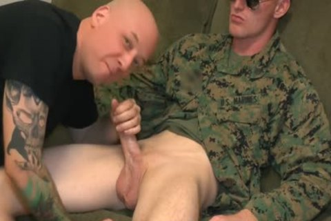 Marine Sgt James oral stimulation-service