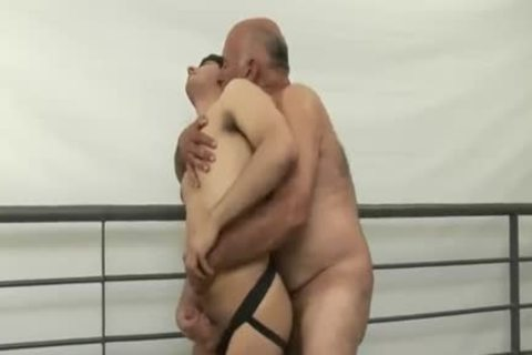 enjoyable bushy daddy man Tops young guy